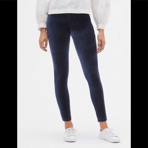Gap Factory Blue Velvet High-Waist Leggings NWT
